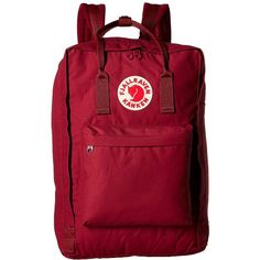 Fjallraven Kanken 17 (Plum) Backpack Bags (€93) ❤ liked on Polyvore featuring bags, backpacks, logo backpack, tote handbags, tote bag backpack, red tote handbag and water bottle tote