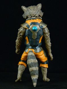 Marvel Legends Guardians of the Galaxy Rocket Raccoon  - Back, Front, Side views
