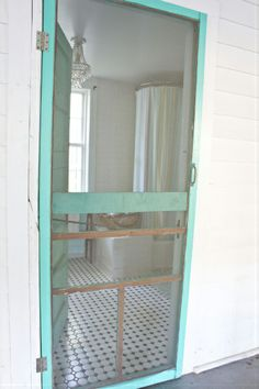 Nothing quite like an old fashioned screen door. Love, love, love.