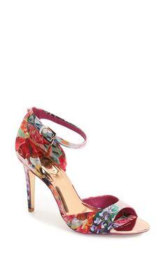 94d87e276a3 Ted Baker London  Caleno  Floral Print Ankle Strap Sandal (Women)  Espadrilles
