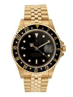 Rolex Gold GMT-Master II Watch, 40mm by Rolex at Gilt Men's Watch