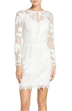 Main Image - Adelyn Rae Floral Lace Sheath Dress