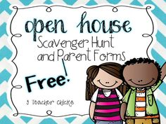 Editable Open House Resources- FREE by 3 Teacher Chicks Back To School Night, 1st Day Of School, Beginning Of The School Year, Communication Avec Les Parents, Preschool Open Houses, Open House Night, Back To School Activities, School Ideas, Open House Activities