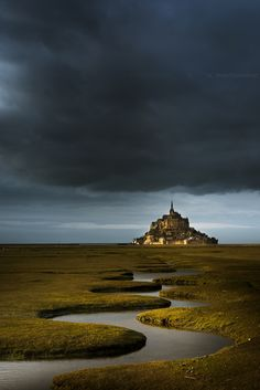 """wanderthewood: """" Mont Saint-Michel, Normandy, France by Gregory Lebreton """" Mont Saint Michel France, Le Mont St Michel, Best Vacation Destinations, Best Vacations, Places To Travel, Places To See, Beautiful World, Beautiful Places, Spiritual Photos"""