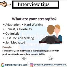 Job Interview Answers, Job Interview Preparation, Interview Skills, Job Interview Tips, Resume Skills, Job Resume, Resume Tips, Interesting English Words, Learn English Words