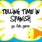 Fun GO FISH card game to practice telling time in Spanish. Players match up numerical time cards with sentences in Spanish to make pairs. 80 printa...