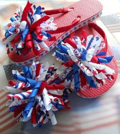 Patriotic/ 4th of July Korker Boutique Flip by allthingsgirlybows, $20.00