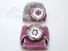 Baby Set, Baby Girl Hat and Diaper Cover Set, Crochet Baby Outfit, Newborn Set, Set, Newborn Gift, Hospital Set, Baby Girl, Crochet Set, Set is
