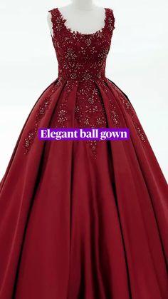 Burgundy Quinceanera Dresses, Charro Quinceanera Dresses, Quinceanera Ideas, Princess Prom Dresses, Princess Ball Gowns, Ball Gowns Prom, Ball Dresses, Maroon Prom Dress, Colored Wedding Dress