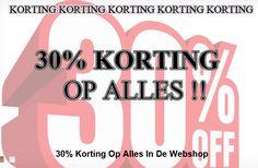 Nu 30% Korting op alles in de webshop ! http://kinderkledingshoppie.nl