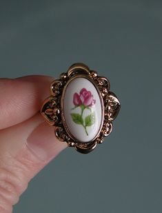Women's Vintage Avon Victorian Rose Ring on Etsy, $25.00