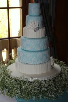 My first wedding cake by Mizzbar, via Flickr