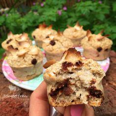 Muffins de avena y coco. Receta paso a paso en www.sweetfran.com