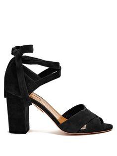 Tarzan suede block-heel sandals | Aquazzura | MATCHESFASHION.COM US