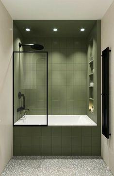 Bad Inspiration, Bathroom Inspiration, Interior Inspiration, Modern Bathroom, Small Bathroom, Cheap Bathrooms, Bathroom Interior Design, Interior Modern, Interior Office