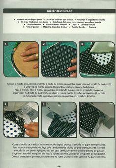 Moldes Para Artesanato em Tecido: Pega Panela com molde 2/4