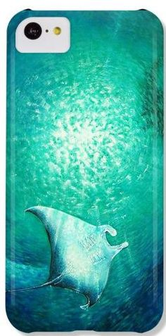 Manta Ray Painting iPhone 4 4s 5 5s 5c 6 Case Samsung by SAXONLYNN