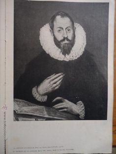 obra del greco 30 x 20 greco b/n pape duro . retrato letrado - Foto 1 - 48287925