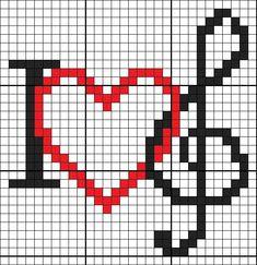 off loom beading stitches Cross Stitch Music, Cross Stitch Alphabet, Cross Stitch Charts, Cross Stitch Designs, Cross Stitch Patterns, Loom Beading, Beading Patterns, Crochet Patterns, Cross Stitching