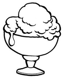 Yummy Ice Cream Sundae Coloring Page