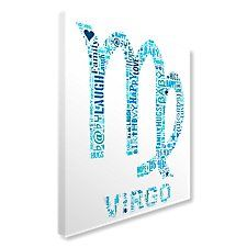 Virgo zodiac sign canvas art image