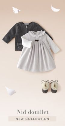 Nid Douillet baby girl dress