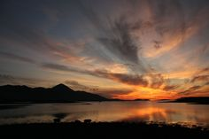 Sunset, Clew Bay. Co Mayo. by Peter Dorney