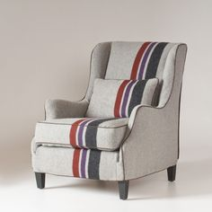 Stephenson Chair Slipcover | College Stripe Wool | Schoolhouse Electric & Supply Co.