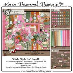 Girls Night In Bundle [KDD_GNIB] - $4.00 : Scraps N Pieces Store