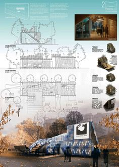 The winning project for the San Sebatián 2016 information pavilion - Open . - The winning project for the San Sebatián 2016 information pavilion – Open … - Wallpaper Architecture, Poster Architecture, Architecture Concept Drawings, Architecture Board, Landscape Architecture, Landscape Design, Architecture Design, Architecture Background, Garden Design