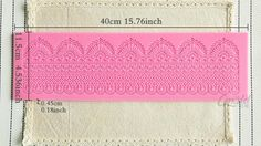 silicone lace mat LACE 007 by StudioKatClayworks on Etsy
