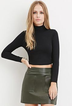 e009500db4b335 Forever 21. Long Sleeve Crop TopCoco ...
