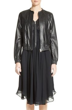 Belstaff Havana Leather Bomber Jacket available at #Nordstrom