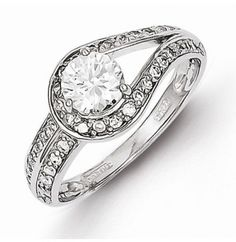 Casted 925 Stamp Sterling Silver CZ Engagement Ring SKU: QG-QR4263 - See more at: http://www.jewelsberry.com/casted-925-stamp-sterling-silver-cz-engagement-ring.html#sthash.q5IQvAy7.dpuf