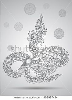 Find art stock images in HD and millions of other royalty-free stock photos, illustrations and vectors in the Shutterstock collection. Japanese Warrior Tattoo, Japanese Tiger Tattoo, King Cobra Tattoo, Snake Outline, Tiger Face Tattoo, Dragon Tattoos For Men, Thai Design, Thai Tattoo, Tiger Art