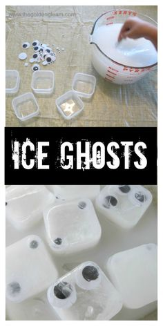 Sensory Play with Ice Ghosts - A How To on Finding The Golden Gleam