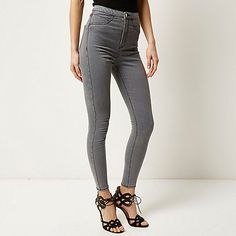 Jean d chir skinny fit taille haute jeans femme pull bear france wishlist pinterest - Cheville molly taille ...