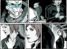 Mass Effect,фэндомы,ME art,Femshep,Garrus,wei723