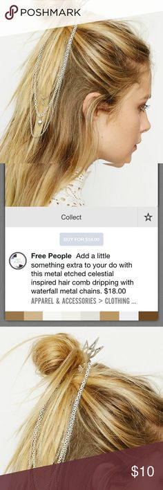Free People boho waterfall chain hair comb Brand new 💗😊 Free People Jewelry Necklaces