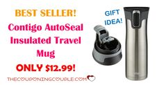 BEST SELLER! Make sure to get this Contigo AutoSeal Insulated Travel Mug for ONLY $12.99! These make great gifts for those Hot Beverage Drinkers!  Click the link below to get all of the details ► http://www.thecouponingcouple.com/contigo-autoseal-insulated-travel-mug/ #Coupons #Couponing #CouponCommunity  Visit us at http://www.thecouponingcouple.com for more great posts!