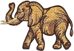 "[Single Count] Custom and Unique (5"" by 3 1/2"" Inches) Wild Animal Safari Adult Elephant Iron On Embroidered Applique Patch {Brown} mySimple Products http://www.amazon.com/dp/B014QADRBI/ref=cm_sw_r_pi_dp_AzTJwb0HPKF5X"