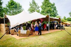 A Freestretch marquee Stretchtent! #Haybales #wedding #venue  www.freestretch.co.uk