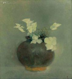 Pieter Knorr Flower Paintings, Beautiful Textures, Flower Art, Still Life, Rabbit, Vibrant, Vase, Illustrations, Floral