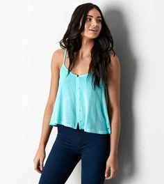 AEO Soft & Sexy Button Front Tank - Buy One Get One 50% Off