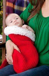 Santa's Crochet Baby Cocoon: free pattern