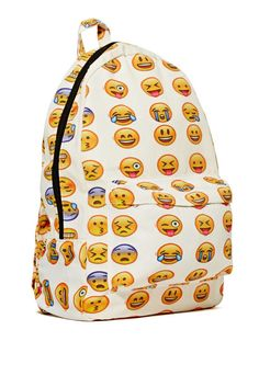 This emoji backpack says everything for you.