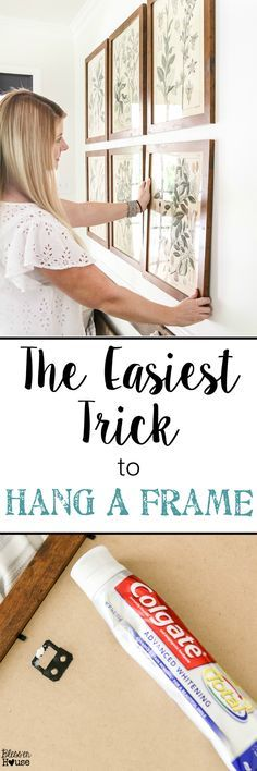 trick for hanging photos, especially in a gallery wall: You simply ...