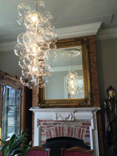 Custom gilded floating bubble chandelier by thelightfactory 47500 the x tall waterfall glass bubble chandelier aloadofball Choice Image
