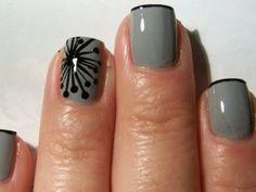 Gray nails - the modern art remix