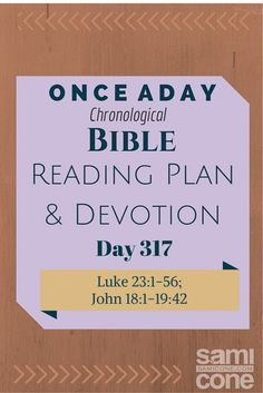 Once A Day Bible Reading Plan & Devotion Day 317